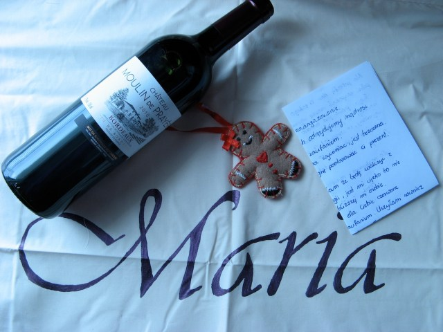 Prezent od Anii dla Marii Bucardi