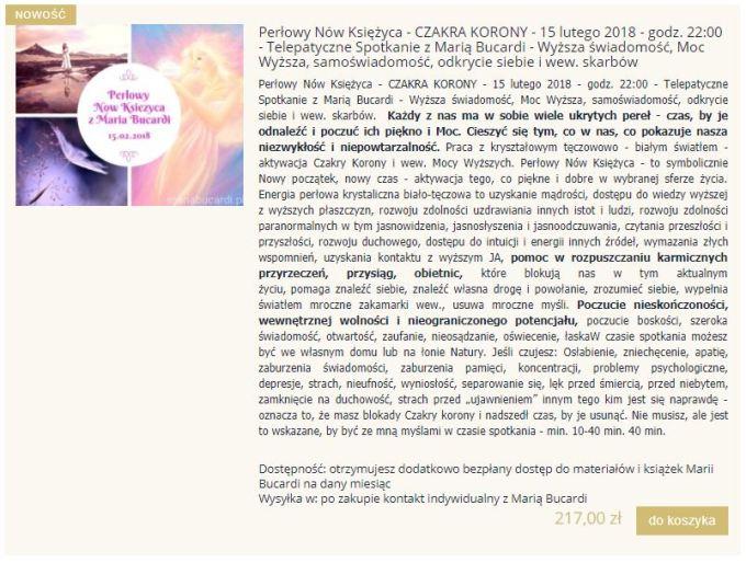 Perłowy Nów Księżyca - CZAKRA KORONY - 15 lutego 2018 - godz. 22:00 - Telepatyczne Spotkanie z Marią Bucardi
