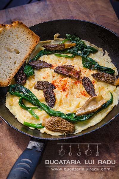 omleta cu zbarciogi omleta cu leurda prezentare