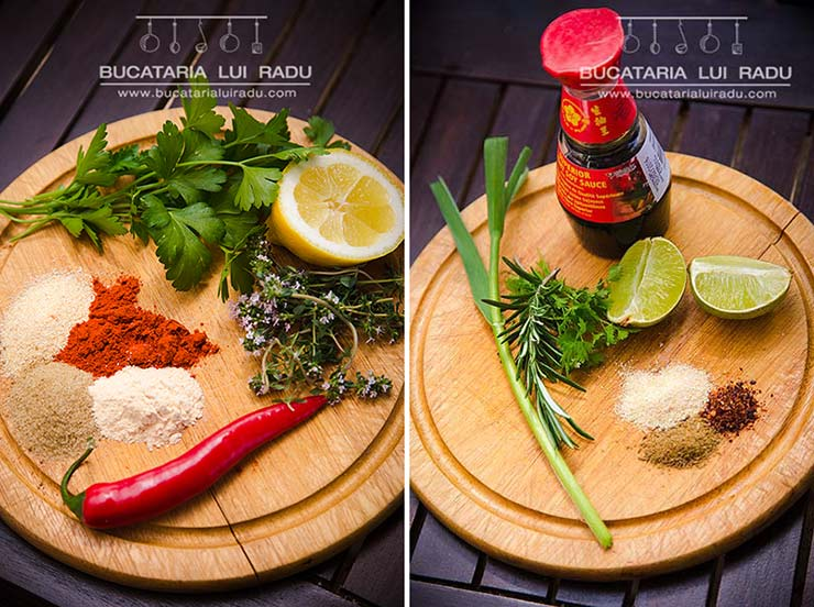 ingrediente pentru pulpe marinate