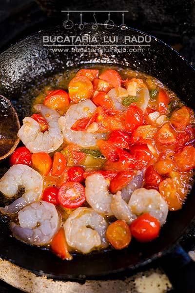preparare paste cu creveti reteta