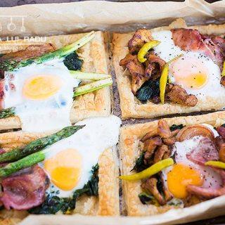 Tarte mic dejun. Foietaj cu bacon, oua, ciuperci…Inclusiv reteta video.
