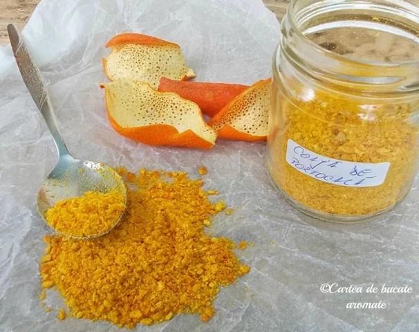 Coajă de portocală măcinată