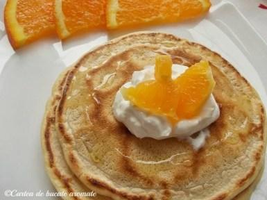 pancake cu portocale