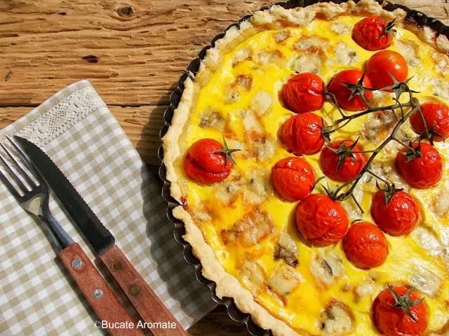 Tarta cu gorgonzola şi roşii cherry