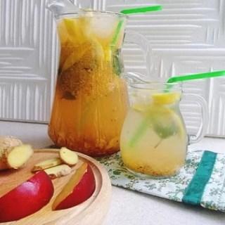 Limonadă cu nectarine şi ghimbir (fără zahăr)