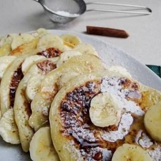 Pancakes cu banane şi mălai