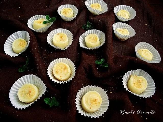 Praline de ciocolată albă cu portocale
