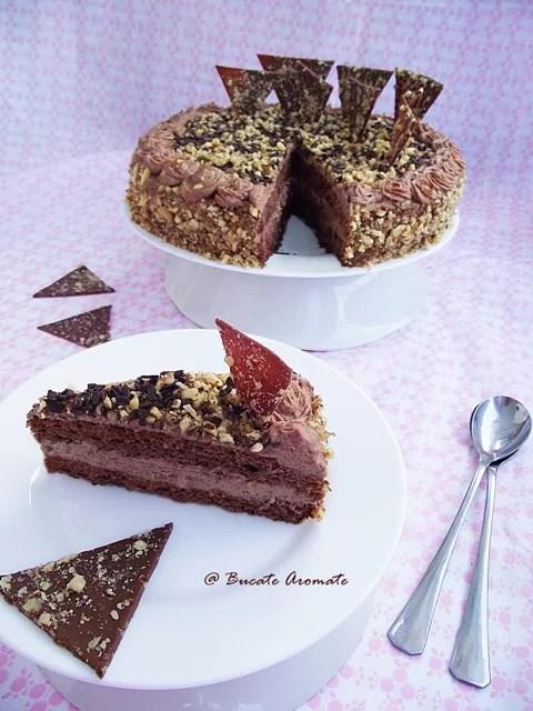 Tort cu ciocolată şi nuci