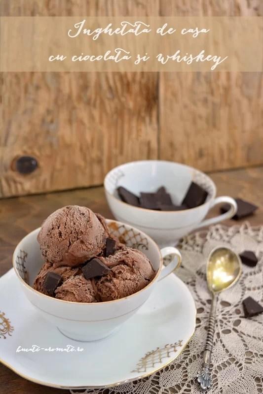Îngheţată de casă cu ciocolată şi whiskey