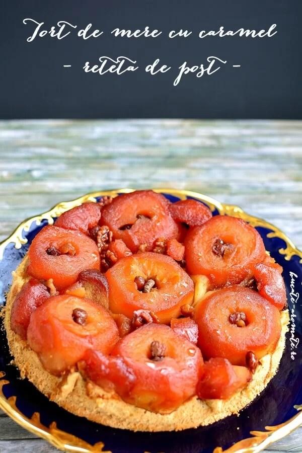 Tort de mere cu caramel – reţeta de post