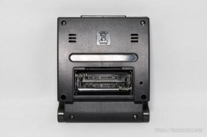 背面に電池ボックス