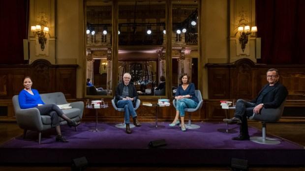 Literarisches Quartett: Teilnehmer Dorn, Ruge, Menasse und Brand