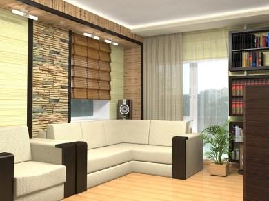 Дизайн гостиной. Мягкий уголок.