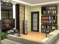 Дизайн гостиной. Вид с балкона