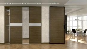 Дизайн трехкомнатной квартиры, г. Киев Вид из коридора в зал.
