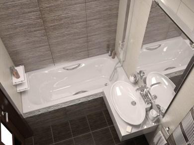 Дизайн ванной комнаты. Вид сверху.