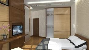 Дизайн спальни. Трехкомнатная квартира в Киеве.