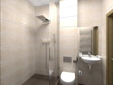Дизайн гостевого санузла в трехкомнатной квартире, г. Киев.