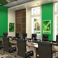 Дизайн интерьера г. Ирпень. Большой зал заседаний в современном стиле.