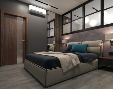 Дизайн спальни в стиле LOFT. Кровать LIMURA фабрики BLANCHE