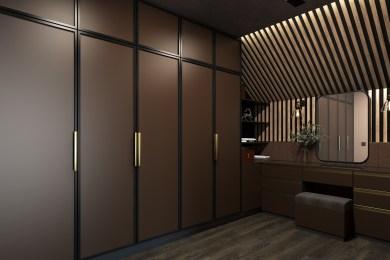 Дизайн гардеробной комнаты, стиль Стимпанк