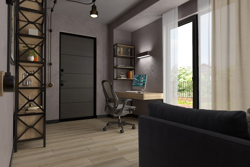 Дизайн кабинета в стиле LOFT
