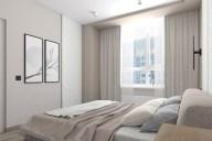 Светлая спальня в стиле минимализм 3