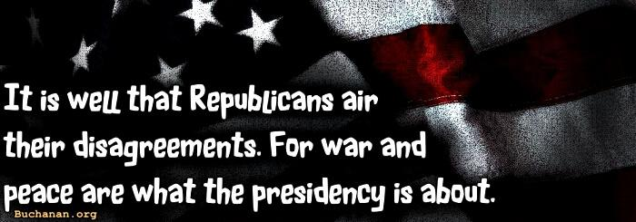 The Republican War -- Over War Policy