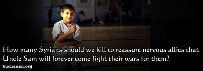 How Many Syrians Should We Kill