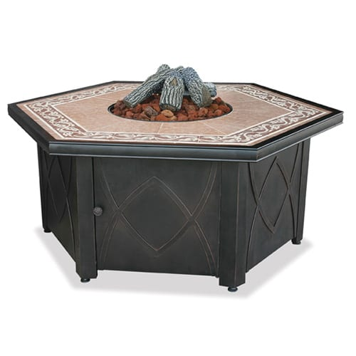 Import Outdoor Fire Pit with Ceramic Tile Top