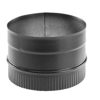 Stove Pipe: Oval To Round Stove Pipe Adapter