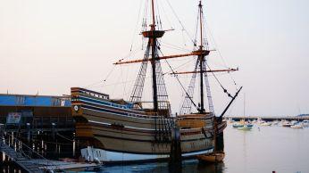 Le Mayflower (une réplique); il est tout petit!