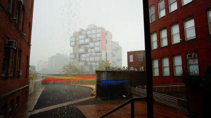 On a essuyé une grosse pluie d'orage