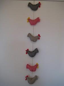 guirlande de poules