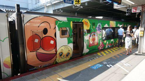 A la gare d'Okayama, même les trains sont kawaï!