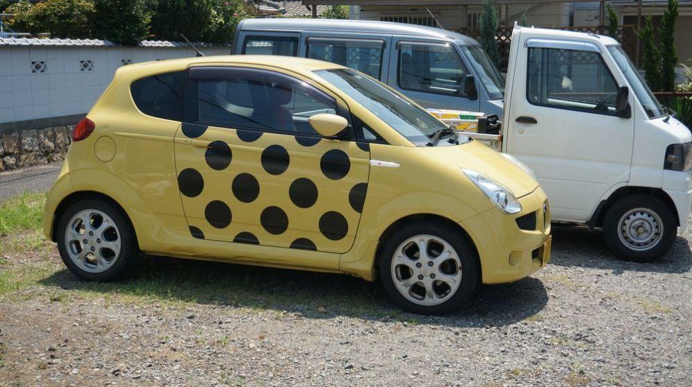 Une voiture à louer sur Naoshima