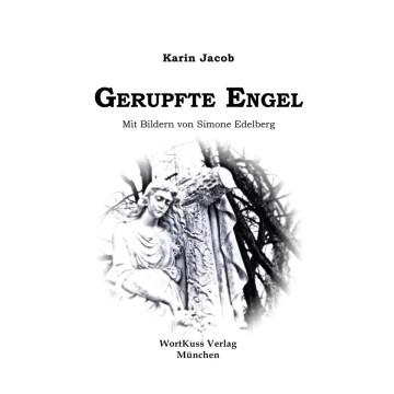 Das Cover von Gerupfte Engel zeigt eine nach unten blickende Engelsfigur