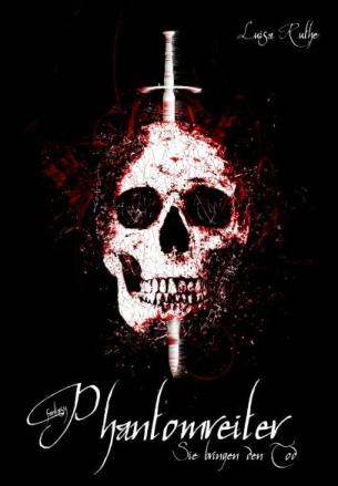 Das Cover zeigt einen Totenschädel, in dem ein Schwert steckt, darum sind Blutspritzer und schwarzer Hintergrund.