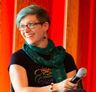 Autorin Judith Vogt auf dem PAN Branchentreffen
