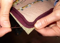 needlepoint tutorial how to sew a needlepoint cusion