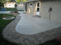 Concrete Patio with Stamped Edges - Buchheit Construction