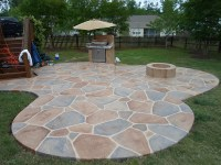Stamped Concrete Pool Patio - Buchheit Construction