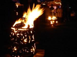 Lichterfest Buchholz Feuertonne