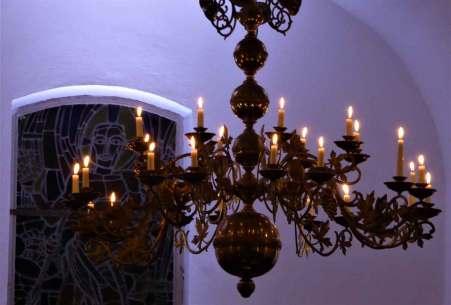 Kerzenleuchter der Kirche 2017