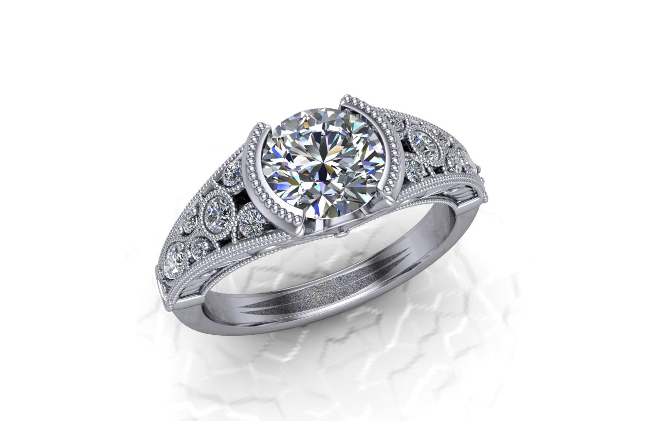 Buchkosky Jewelers Antique Bezel Engagement Project