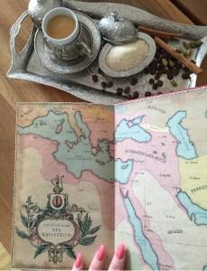 Karte im Buch