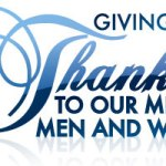 Giving Thanks to Our Men & Women in Uniform