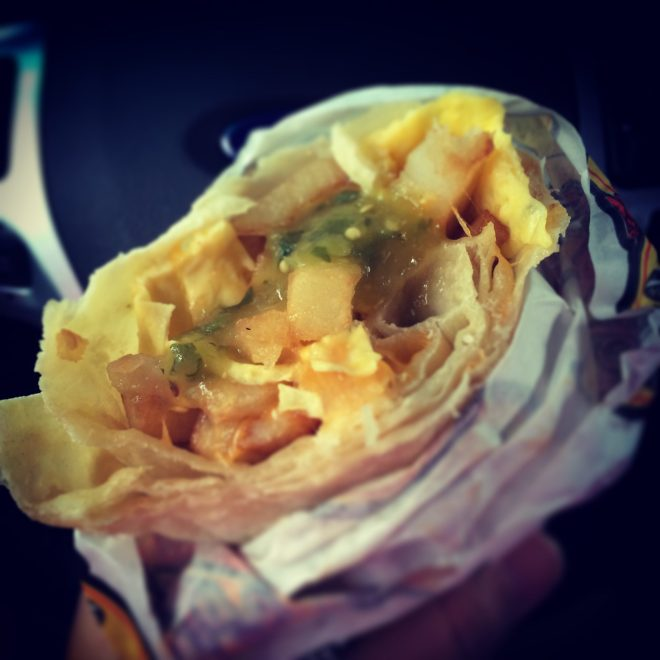 July 7 :: p365 :: year 34 day 252 :: People, this is NOT a breakfast burrito. This is called a taquito. Not those rolled up fried thingies. Those are...well, weird. We don't eat those in Texas.