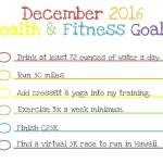 December 2016 | Fitness Goals